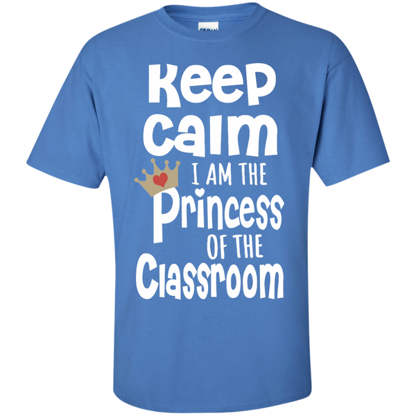 Keep Calm I am the Princess of the Classroom Cotton T-Shirt - TeachersLoungeShop - 5