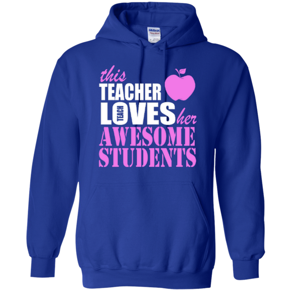 This Teacher Loves her Awesome Students T-shirt Hoodies - TeachersLoungeShop - 11