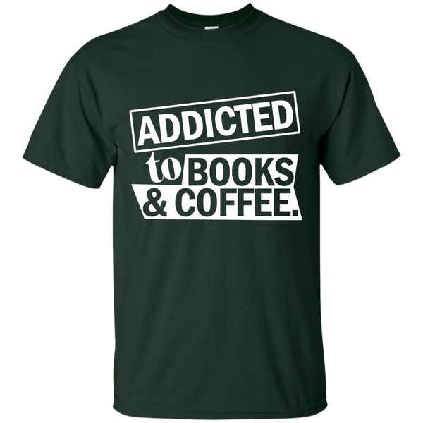 Addicted to Books and Coffee Cotton T-Shirt - TeachersLoungeShop - 3