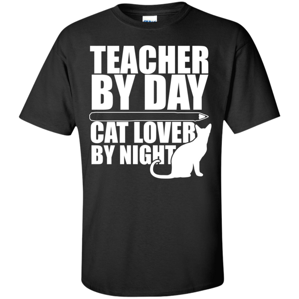 Teacher by Day Cat Lover by Night  T-Shirt - TeachersLoungeShop - 1