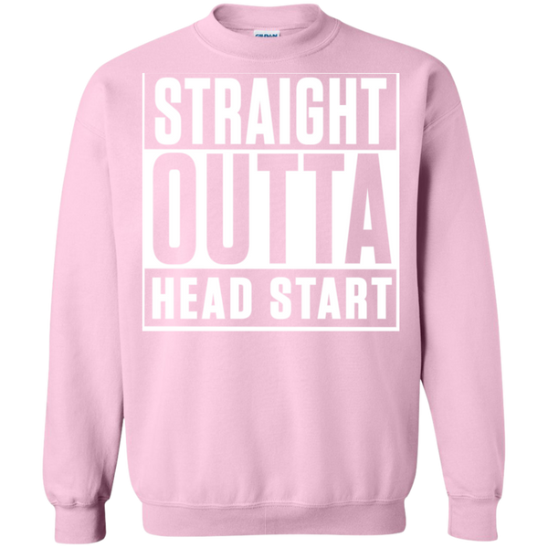 Straight Outta Head Start  Crewneck Pullover Sweatshirt  8 oz - TeachersLoungeShop - 12
