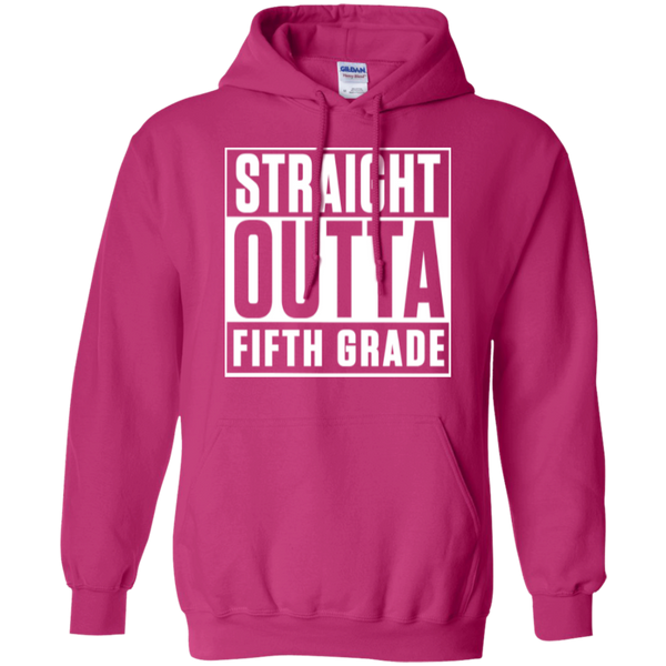 Straight Outta Fifth Grade  Hoodie 8 oz - TeachersLoungeShop - 8