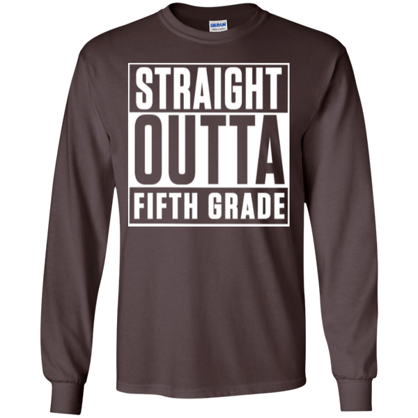 Straight Outta Fifth Grade LS  Cotton Tshirt - TeachersLoungeShop - 10