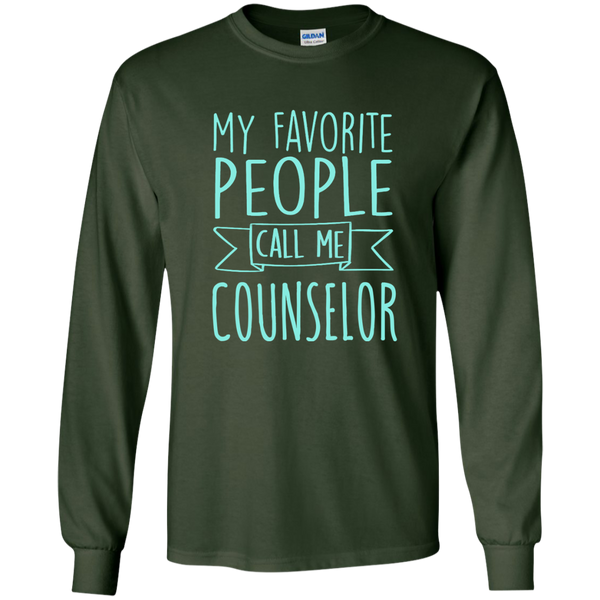 My Favorite People call Me Counselor LS Ultra Cotton Tshirt - TeachersLoungeShop - 2