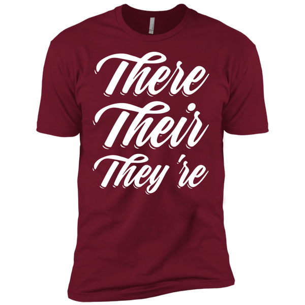 They Their They're  Next Level Premium Short Sleeve Tee - TeachersLoungeShop - 3