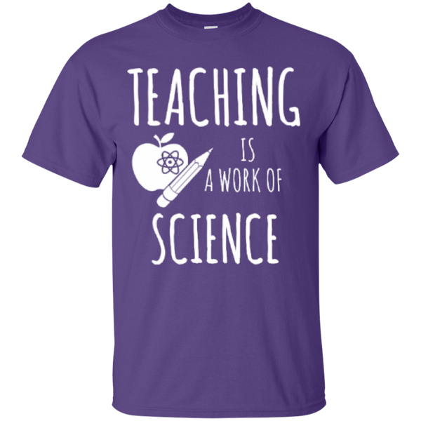Teaching is a Work of Science Teacher T-shirt Hoodie - TeachersLoungeShop - 3