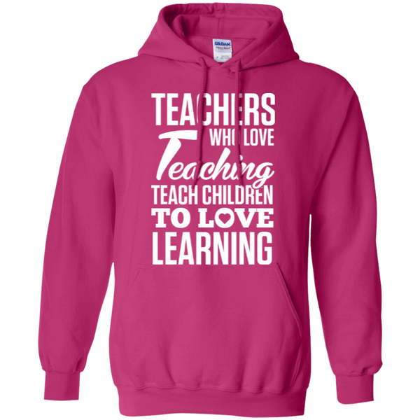Teachers who love teaching  Hoodie 8 oz - TeachersLoungeShop - 4