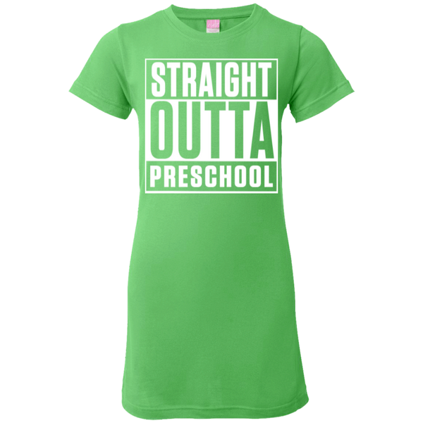 Straight Outta Preschool Junior  Custom Fine Jersey Tshirt - TeachersLoungeShop - 4