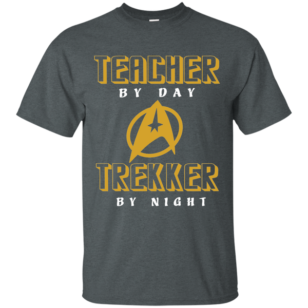 Teacher By Day Trekker By Night Cotton T-Shirt - TeachersLoungeShop - 6