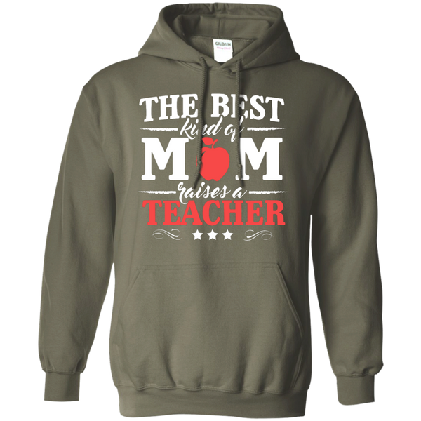 The Best kind of Mom raises a Teacher Hoodie 8 oz - TeachersLoungeShop - 9