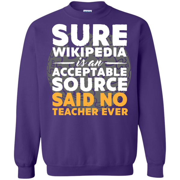 Printed Crewneck Pullover Sweatshirt  8 oz - TeachersLoungeShop - 8