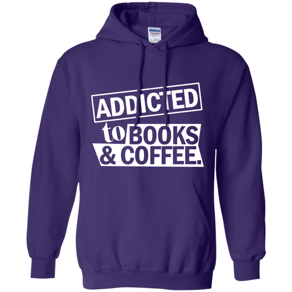 Addicted to Books and Coffee Pullover Hoodie 8 oz - TeachersLoungeShop - 10