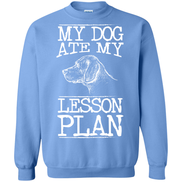 My Dog Ate my Lesson Plan Crewneck Pullover Sweatshirt  8 oz - TeachersLoungeShop - 10