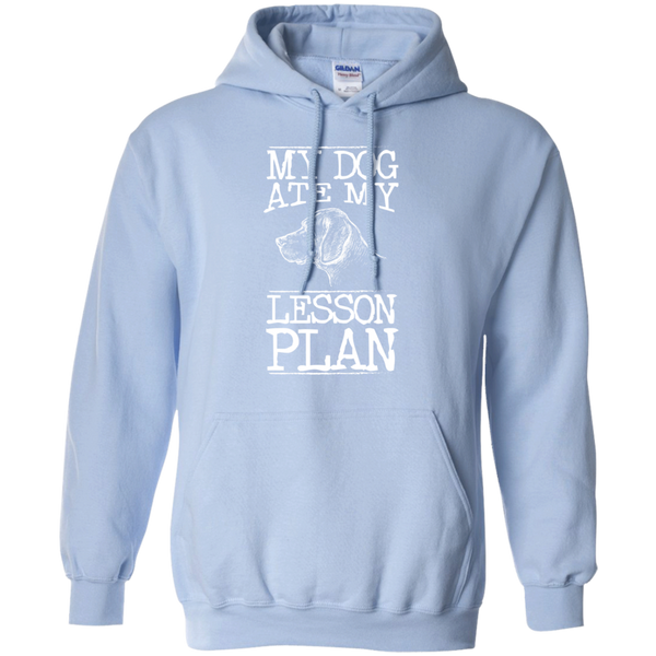 My Dog Ate my Lesson Plan  Hoodie 8 oz - TeachersLoungeShop - 9
