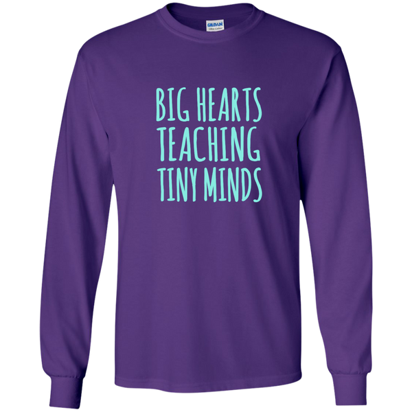 Big Hearts Teaching Tiny Minds LS Ultra Cotton Tshirt - TeachersLoungeShop - 9