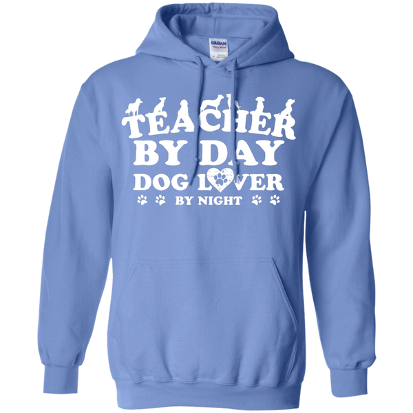 Teacher By Day Dog Lover by Night  Hoodie 8 oz - TeachersLoungeShop - 4