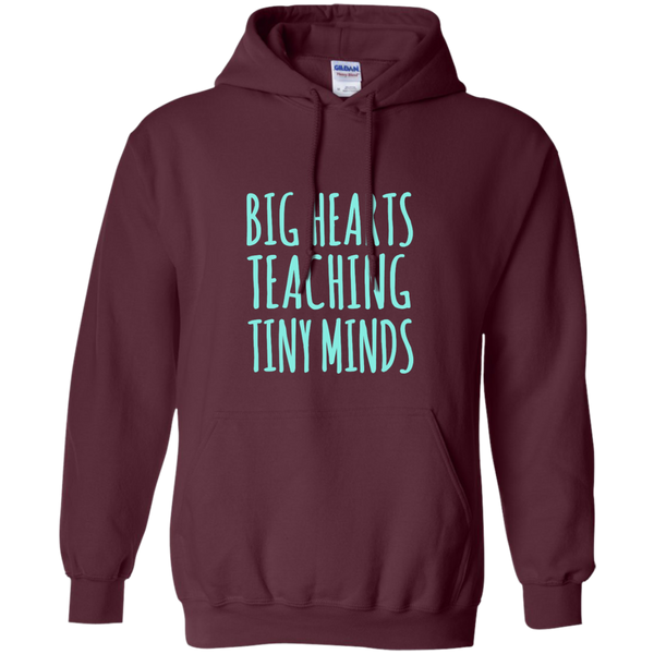 Big Hearts Teaching Tiny Minds Pullover Hoodie 8 oz - TeachersLoungeShop - 9