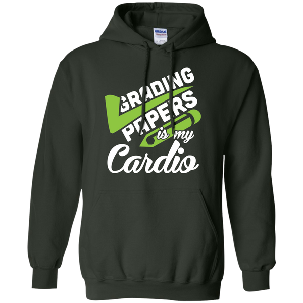 Grading papers is my cardio   Hoodie 8 oz - TeachersLoungeShop - 6