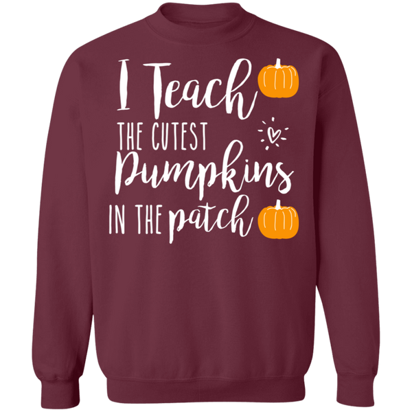 I teach pumpkins  in the patch Crewneck Pullover Sweatshirt  8 oz.