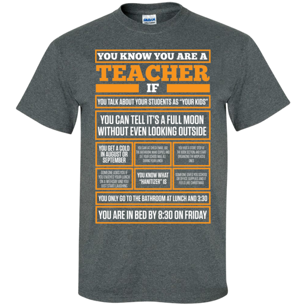 You know You are a Teacher if  T-Shirt - TeachersLoungeShop - 6
