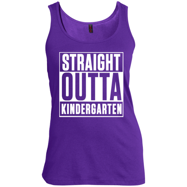 Straight Outta Kindergarten   Scoop Neck Tank Top - TeachersLoungeShop - 6