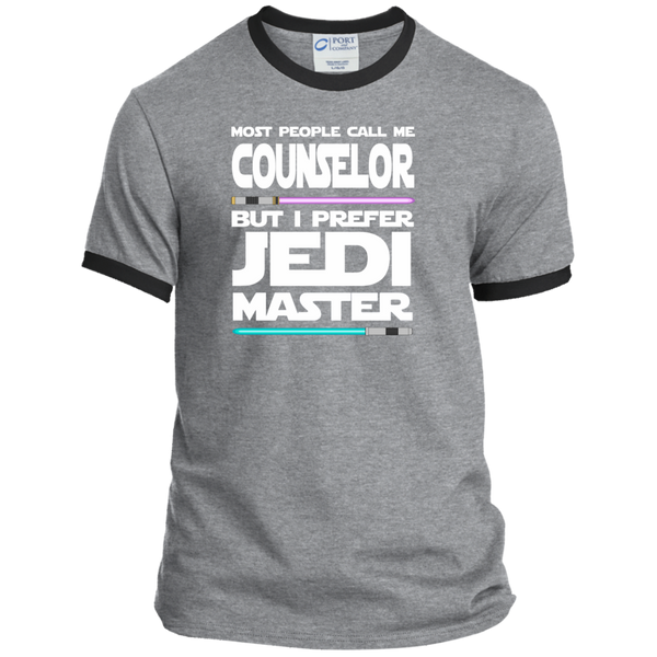 Most People Call Me Counselor But I Prefer Jedi Master Ringer Tee - TeachersLoungeShop - 2