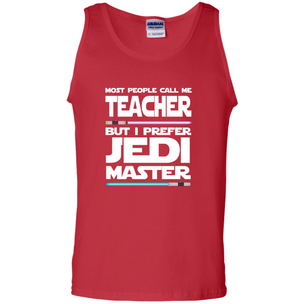 Most People Call Me Teacher But I Prefer Jedi Master 100% Cotton Tank Top - TeachersLoungeShop - 4