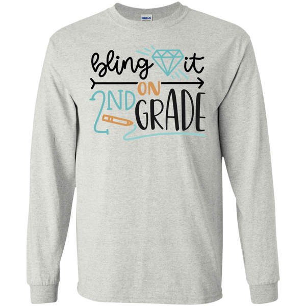 Bling it in 2nd Grade LS Tshirt