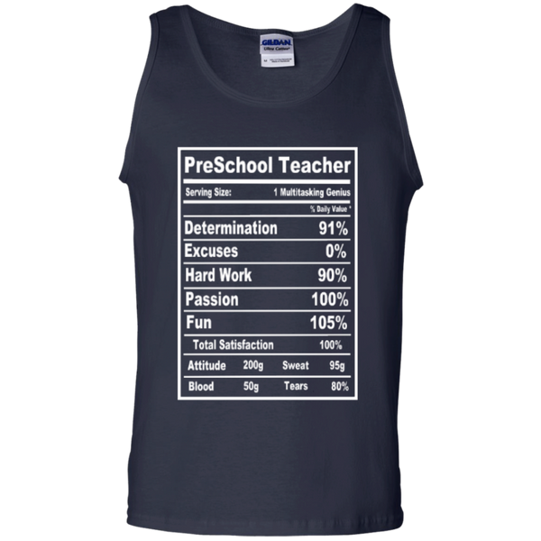 PreSchool Teacher Serving Size Nutrition  100% Cotton Tank Top - TeachersLoungeShop - 2