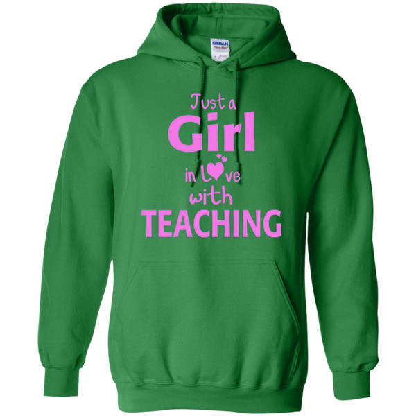 Just a Girl in Love with Teaching T-shirt Hoodie - TeachersLoungeShop - 8