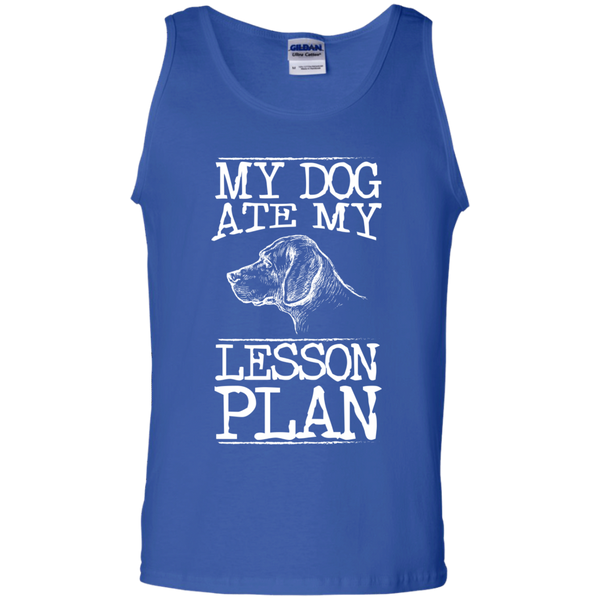 My Dog Ate my Lesson Plan 100%  Cotton Tank Top - TeachersLoungeShop - 4
