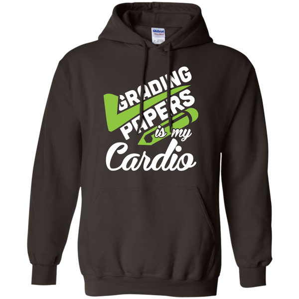 Grading papers is my cardio   Hoodie 8 oz - TeachersLoungeShop - 5