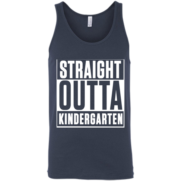 Straight Outta Kindergarten  Bella +Canvas Unisex Tank - TeachersLoungeShop - 2