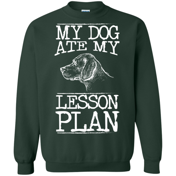 My Dog Ate my Lesson Plan Crewneck Pullover Sweatshirt  8 oz - TeachersLoungeShop - 4