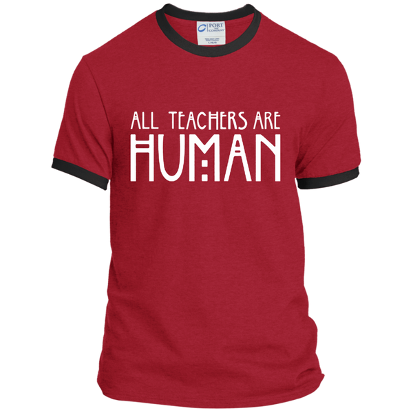 All Teachers Are Human Ringer Tee - TeachersLoungeShop - 7