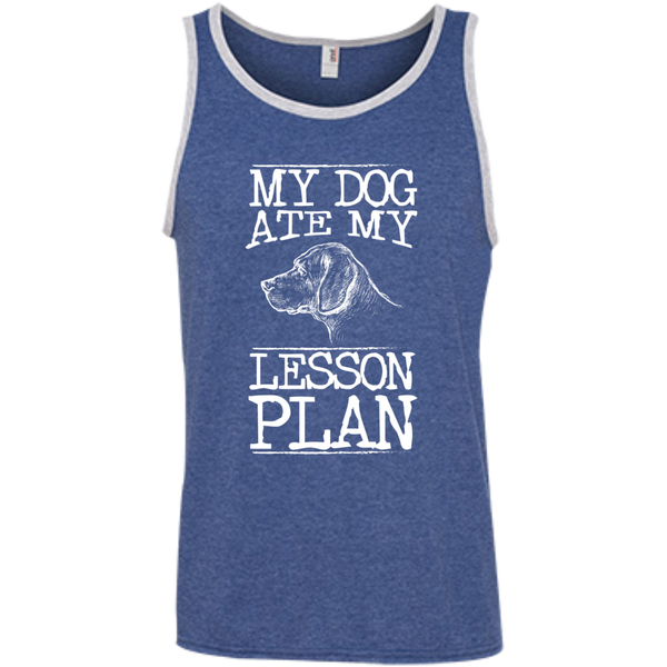 My Dog Ate my Lesson Plan  100% Ringspun Cotton Tank Top - TeachersLoungeShop - 6