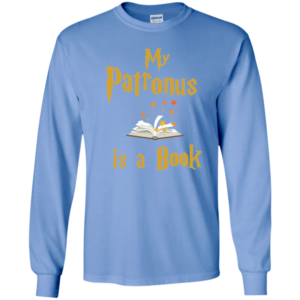 My Patronus is a Book LS Ultra Cotton Tshirt - TeachersLoungeShop - 5