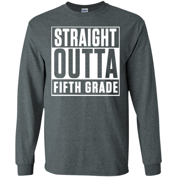 Straight Outta Fifth Grade LS  Cotton Tshirt - TeachersLoungeShop - 9