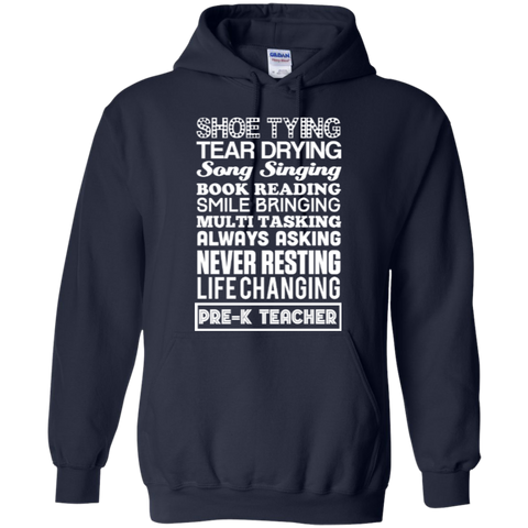 Pre K Teacher  Hoodie 8 oz - TeachersLoungeShop