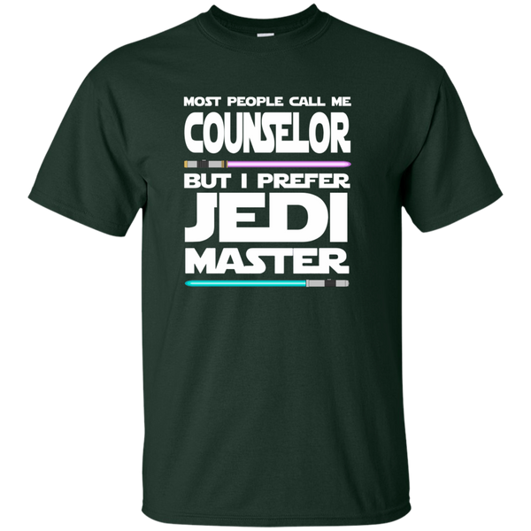 Most People Call Me Counselor But I Prefer Jedi Master Cotton T-Shirt - TeachersLoungeShop - 2