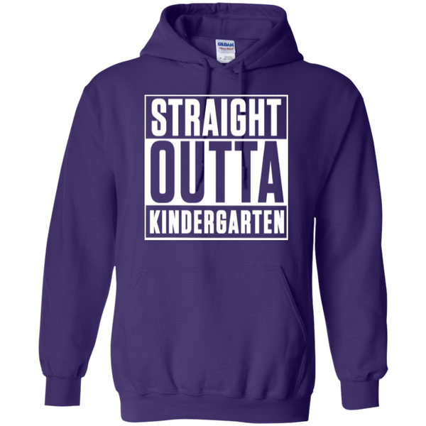 Straight Outta Kindergarten Hoodie 8 oz - TeachersLoungeShop - 1