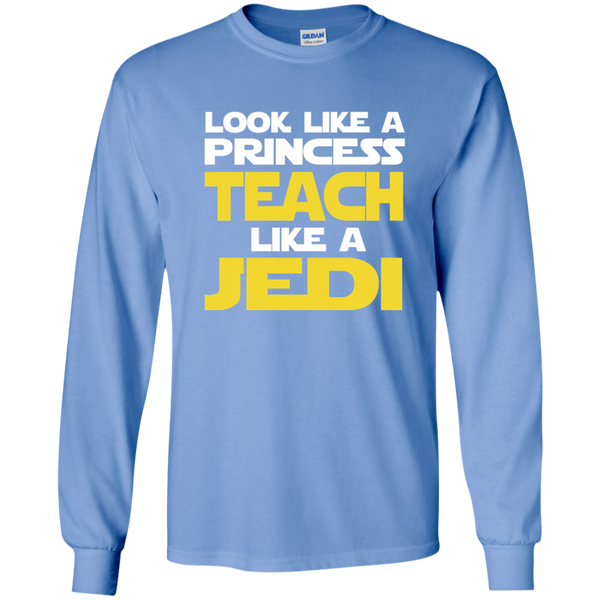 Look Like a Princess Teach Like a Jedi LS Ultra Cotton Tshirt - TeachersLoungeShop - 5