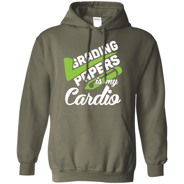 Grading papers is my cardio   Hoodie 8 oz - TeachersLoungeShop - 8