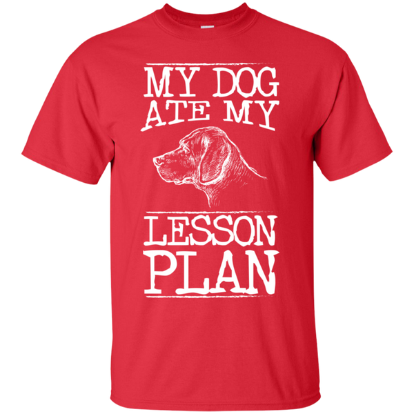 My Dog Ate my Lesson Plan  Cotton T-Shirt - TeachersLoungeShop - 2