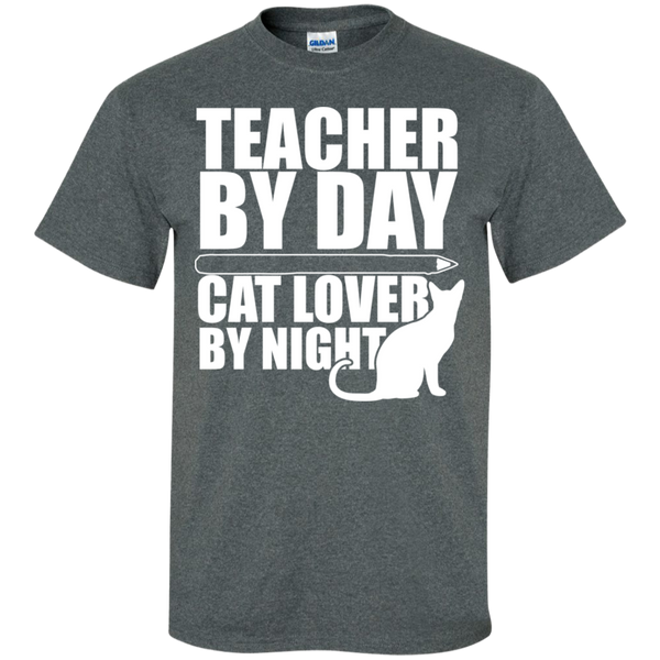 Teacher by Day Cat Lover by Night  T-Shirt - TeachersLoungeShop - 10