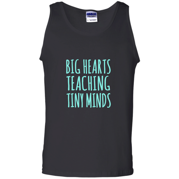 Big Hearts Teaching Tiny Minds 100% Cotton Tank Top - TeachersLoungeShop - 2