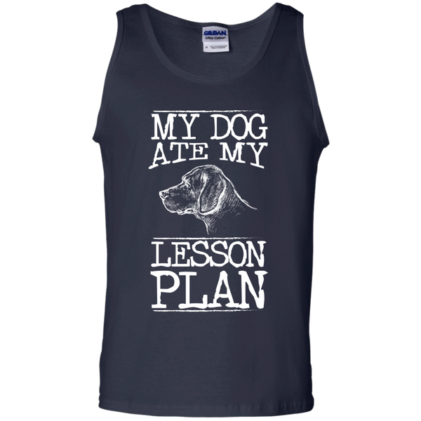 My Dog Ate my Lesson Plan 100%  Cotton Tank Top - TeachersLoungeShop - 2