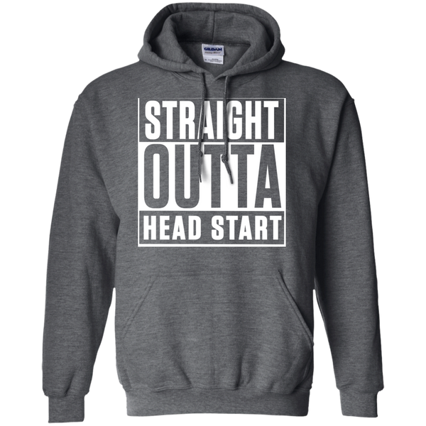 Straight Outta Head Start   Hoodie 8 oz - TeachersLoungeShop - 3