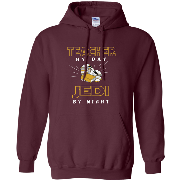 Teacher By Day Jedi By Night Ver2 Pullover Hoodie 8 oz - TeachersLoungeShop - 7