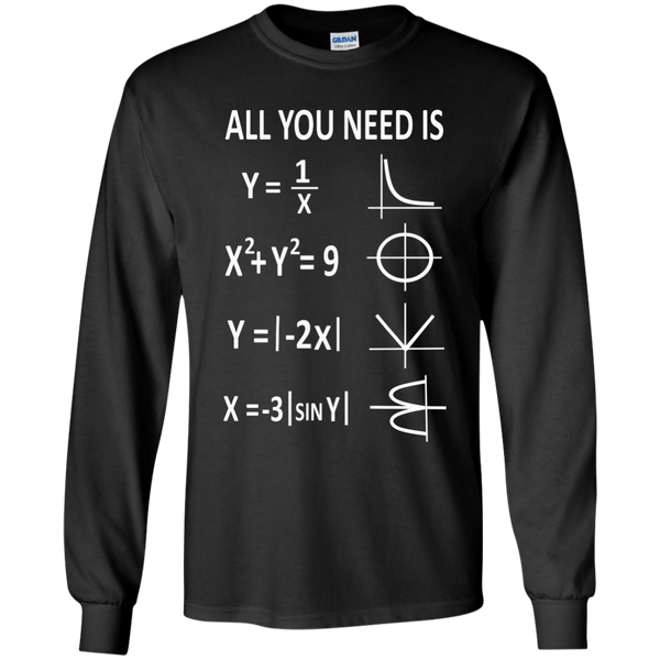 All You Need is Love LS Ultra Cotton Tshirt - TeachersLoungeShop - 1